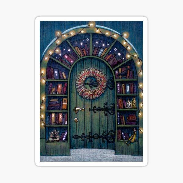 Magic World of Books Door Sticker