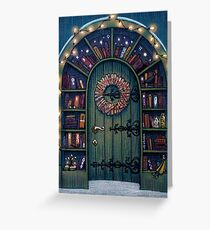 Magic World of Books Door Greeting Card