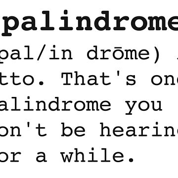 Palidrome by PerfectDisguise