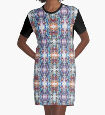 Crystal Prism Reflecting Light Graphic T-Shirt Dress