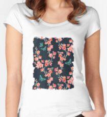 Sakura butterflies bold Women's Fitted Scoop T-Shirt