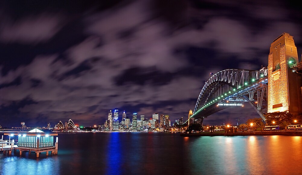 Sydney Night Sky by Jonathan Dael
