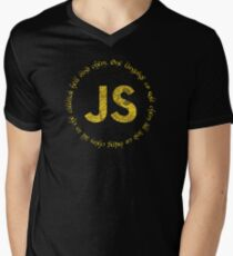 JavaScript - One language to rule them all Men's V-Neck T-Shirt