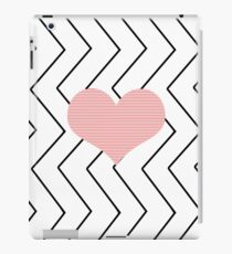 Abstract geometric pattern - heart - zigzag - black and pink. iPad Case/Skin