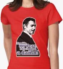 Frankly, my dear, I don't give a damn! Women's Fitted T-Shirt