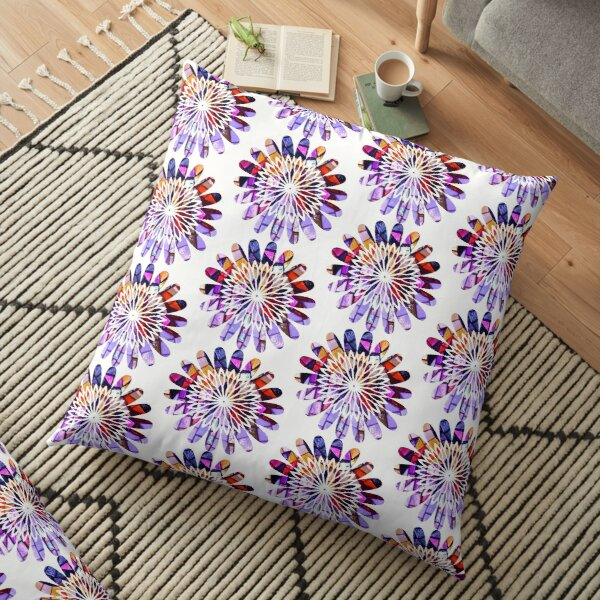 Star Flower Purple,  photography of shiny mosaic - JUSTART © Floor Pillow