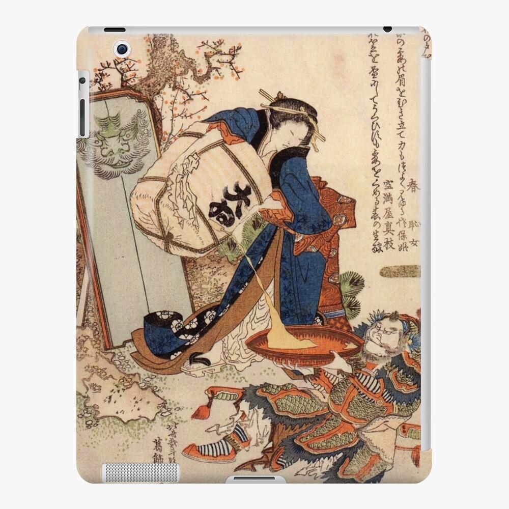 The Strong Oi Pouring Sake by Katsushika Hokusai iPad Case & Skin