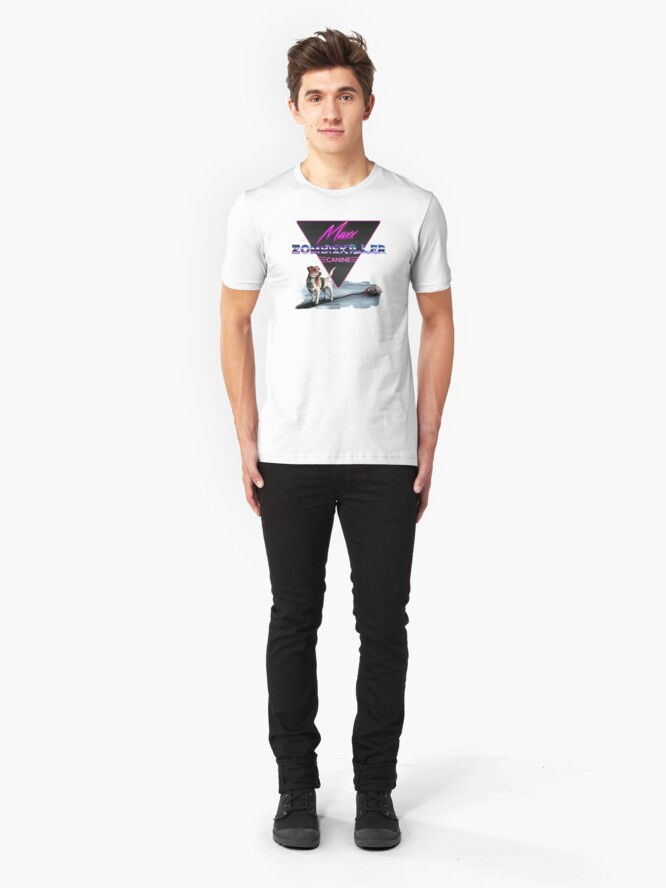 Alternate view of Maxx the Zombiekiller Slim Fit T-Shirt