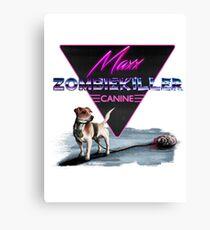 Maxx the Zombiekiller Canvas Print