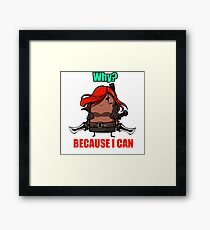 Why? Because I can. Framed Print