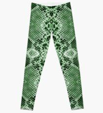 Snakeskin green Leggings
