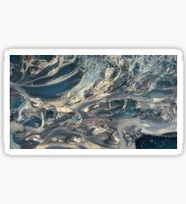 Sheer Swirling Sands (blue) Sticker