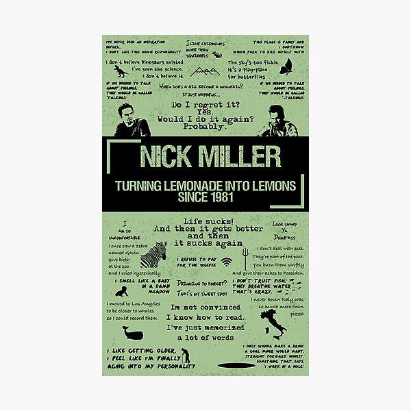 NICK MILLER Photographic Print