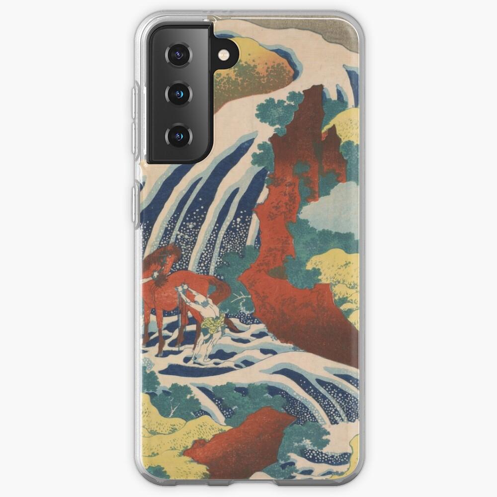 Yoshino Waterfalls Where Yoshitsune Washed his Horse by Katsushika Hokusai Case & Skin for Samsung Galaxy
