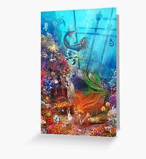 The Mermaid's Treasure Greeting Card