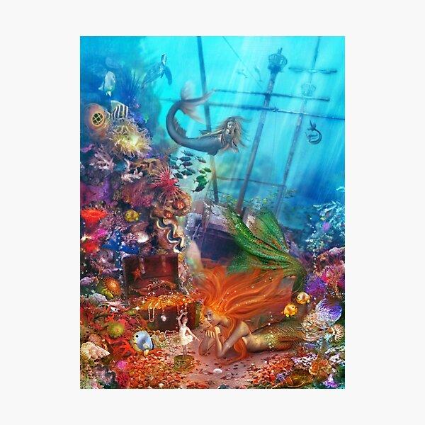 The Mermaid's Treasure Photographic Print