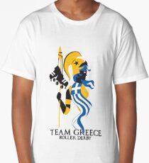 Team Greece Roller Derby Logo (White Background) Long T-Shirt