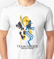 Team Greece Roller Derby Logo (White Background) Unisex T-Shirt