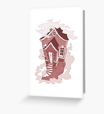 Haunted House | red Greeting Card