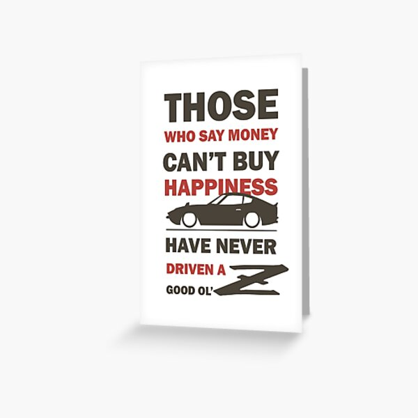 Happiness in a Datsun Z - Inverted Greeting Card