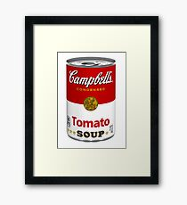 Campbells soup real photo realistic sticker Framed Print
