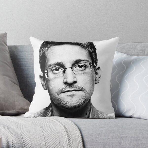 Edward Snowden Throw Pillow