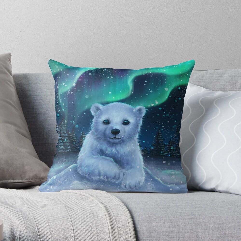 Eisbär Dekokissen