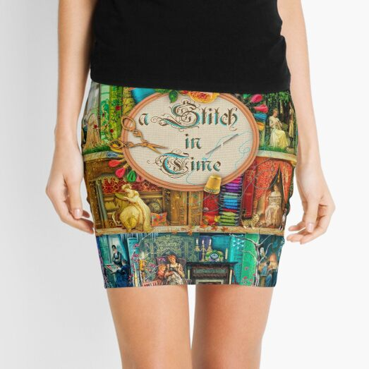 A Stitch In Time Mini Skirt