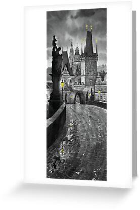 BW Prague Charles Bridge 03 by Yuriy Shevchuk
