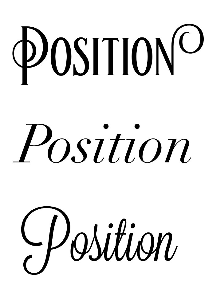 Position, Position, Position/Ballet Phrases by ardelacey