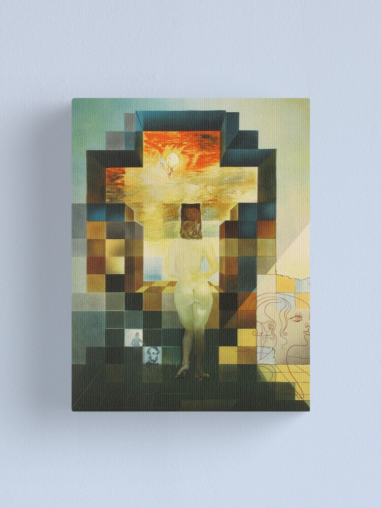 Alternate view of Lincoln in Dalivision- Salvador Dalí Canvas Print