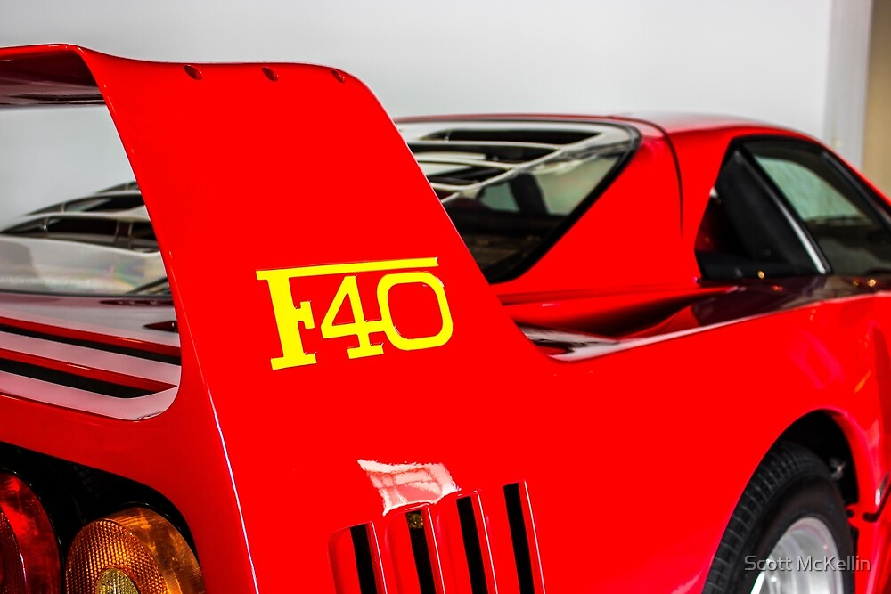 Ferrari F40 - Spoiler by Scott McKellin