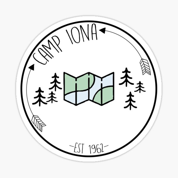 Camp Iona Badge  Sticker