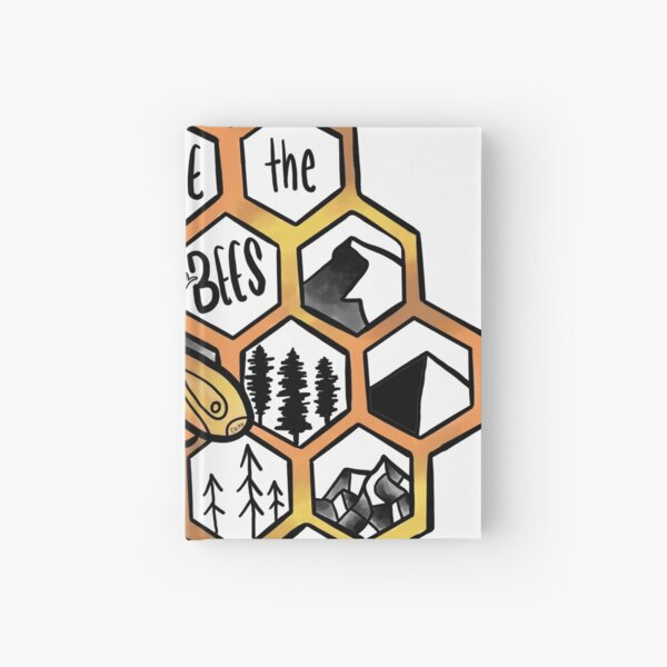 Save the Bees !! Hardcover Journal