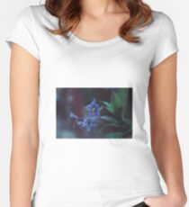 Flowers photography dark rain Women's Fitted Scoop T-Shirt