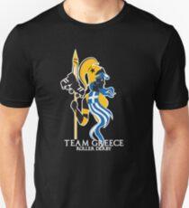 Team Greece Logo (Optimized for Black) Unisex T-Shirt