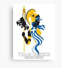 Team Greece Logo (Optimized for Black) Canvas Print