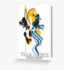 Team Greece Logo (Optimized for Black) Greeting Card