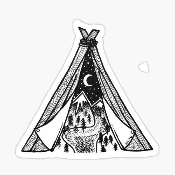 Teepee Sticker