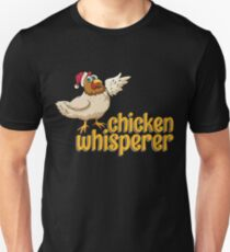 Chicken Whisperer  Christmas  Countryside Shicker  Santa's Hat  Chickmas  Southern Chicken-01 T-Shirt Sweater Hoodie Iphone Samsung Phone Case Coffee Mug Tablet Case Gift Unisex T-Shirt