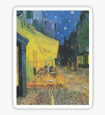 Café Terrace at Night(The Cafe Terrace on the Place du Forum)- Vincent van Gogh Sticker