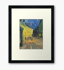 Café Terrace at Night(The Cafe Terrace on the Place du Forum)- Vincent van Gogh Framed Print