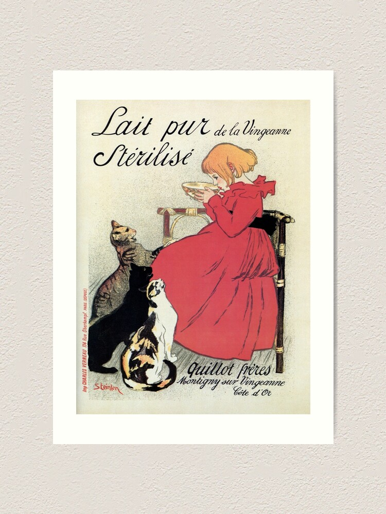 "Fashion Lady Le Chat Noir Black Cat France French 16/""X20/"" Vintage Poster FREE SH"