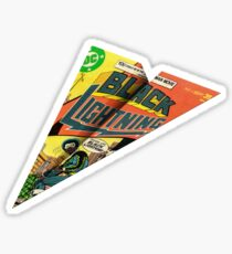 Black Lightning 4 Cover MAD Paper Airplane Sticker