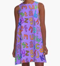 Gekritzel-Alphabet-Buchstaben A-Linien Kleid