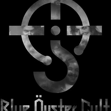 Blue oyster cult - black and white - with text by faunatorium