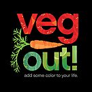 Veg Out! veggie letters with carrot by robinpickens