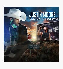 justin moore hell on highway 2018 tour anakan Photographic Print