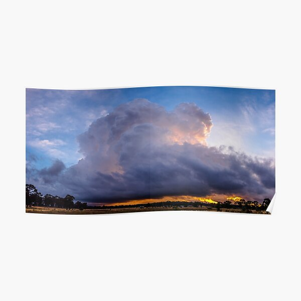 One Cloud Sunset Poster