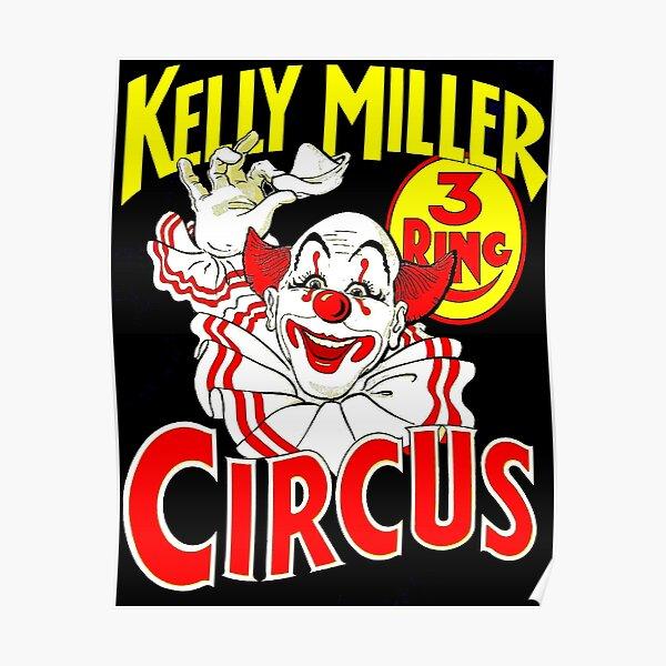 KELLY MILLER : Vintage 1938 Circus Clown Advertising Print Poster